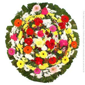 Coroa de Flores Tradicional Colorida